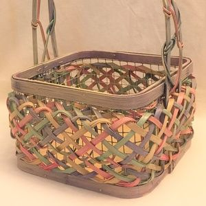 Other - Woven Wicker & Wire Handled Basket